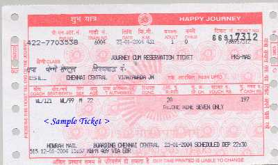 train ticket india book