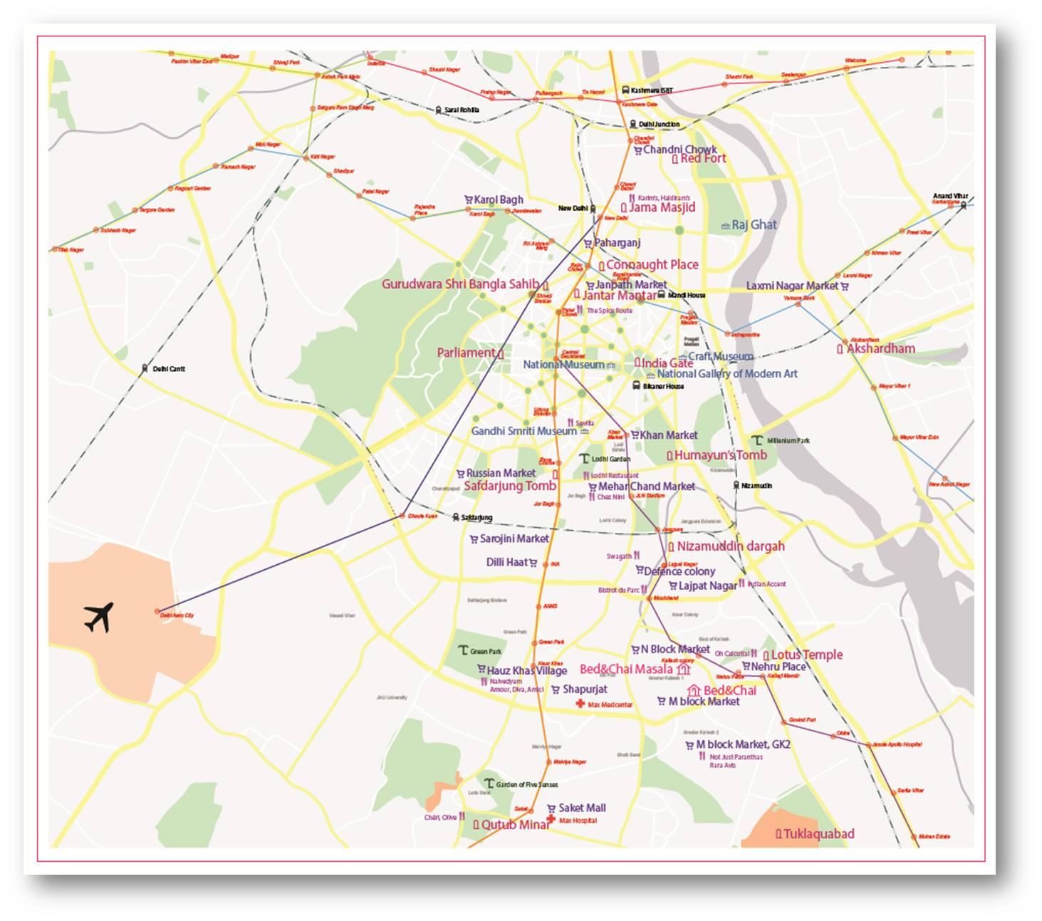 map delhi