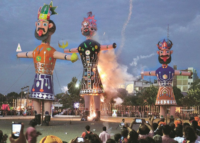 Image result for dussehra-celebrated-country