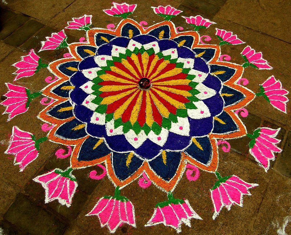 Rangoli for Floor rangoli design
